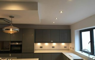 New build kitchen with various lighting circuits NP Electrics Tring